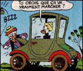 Oma Duck Eleckrische Auto
