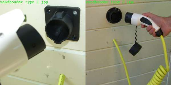 Twee voorbeelden van wandhouders voor respectievelijk type 1 en type 2