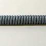 Grijze spiraalkabel voor garage of carport; lengte 50 centimeter