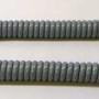 Grijze spiraal kabel voor garage of carport; lengte 1 meter