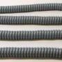 Grijze spiraal kabel voor garage of carport; lengte 2 meter