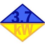 3,7 kWatt
