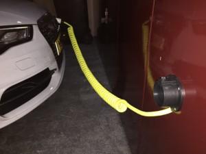 Spiraallaadkabel voor het laden van elektrische auto's