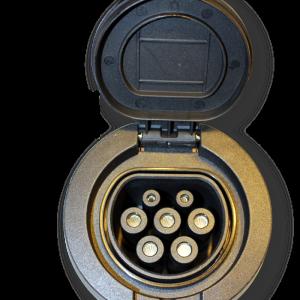 Wandcontactdoos Type2 schroefverbinding (tot 22kw)