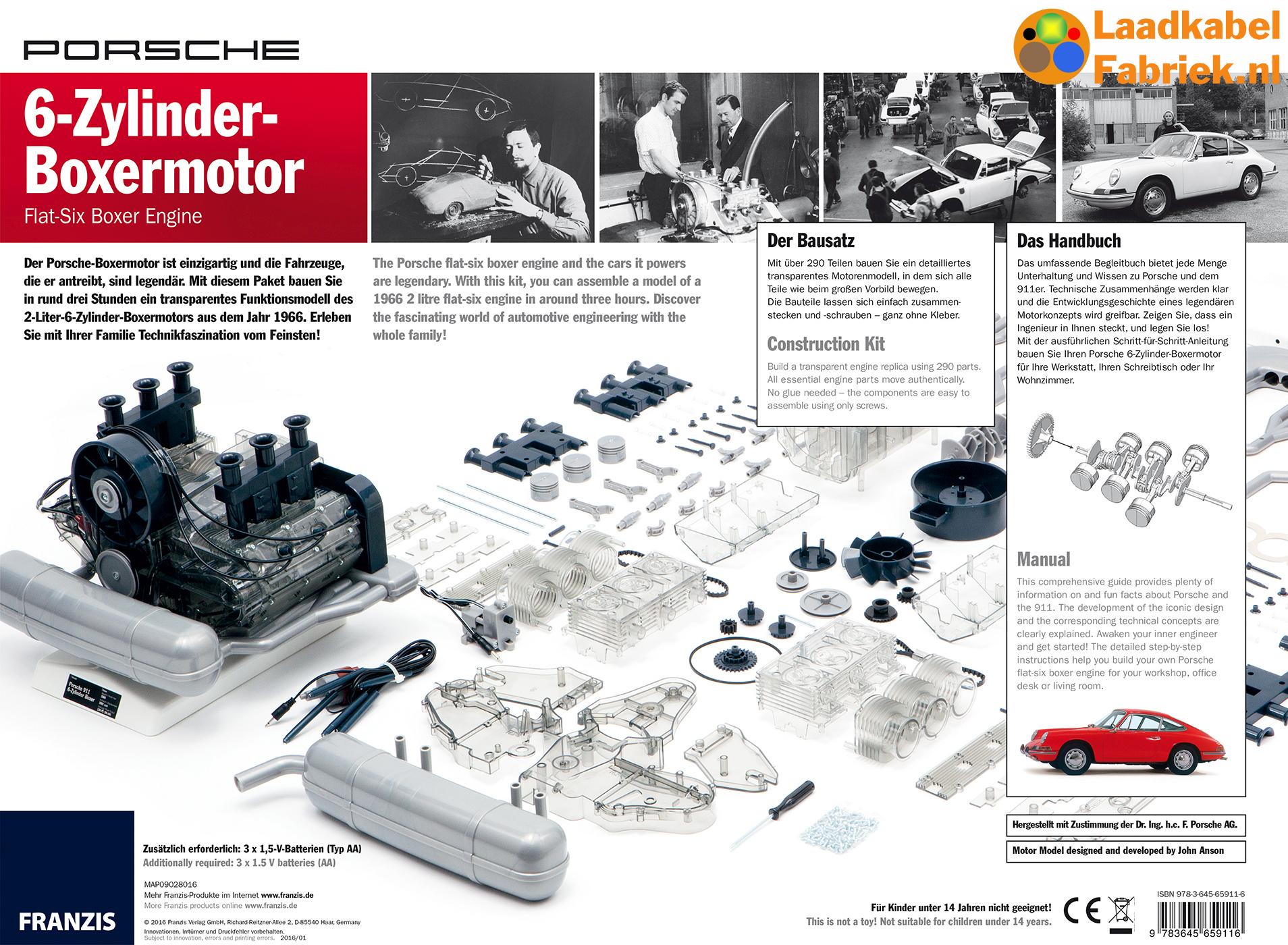 boxermotor schaalmodel van porsche 911 laadkabelfabriek. Black Bedroom Furniture Sets. Home Design Ideas
