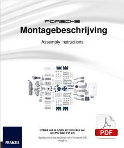 Afbeelding van de eerste pagina van de Nedrlandstalige montage handleiding van het bouwmodel