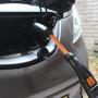 Nissan Leaf laden met adapter