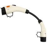 Verloop met witte stekkers en zwarte kabel