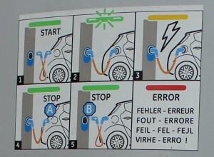 Plaatje 4 laat zien dat eerst de auto losgekoppeld moet worden