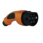 Oranje stekker volgens IEC62196-2 in oranje kleur